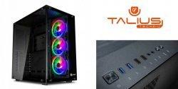 Talius caja Atx gaming Cronos RGB cristal templado USB 3.0