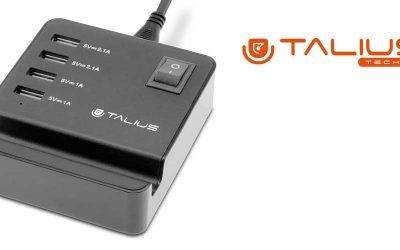 Talius cargador pared 4USB con cable CHA-4003 black