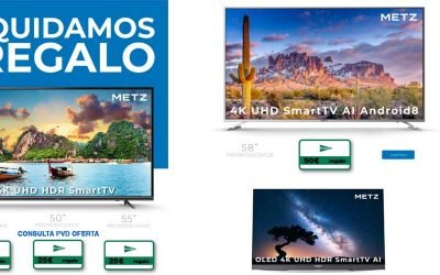 Liquidación de televisores Metz con regalo