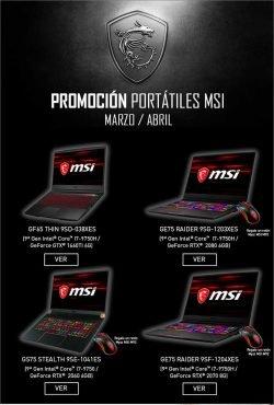 promocion portatiles MSI