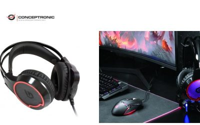 Auriculares Conceptronic para juegos USB de sonido envolvente 7.1