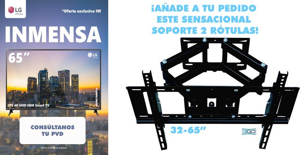 mejor precio tv lg 65 pulgadas 4K