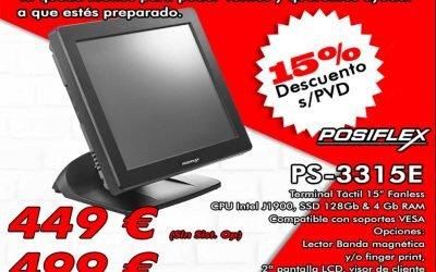 Promoción especial terminal táctil Posiflex 15% descuento