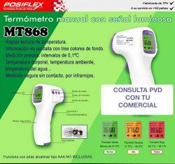 termómetro manual con señal luminosa