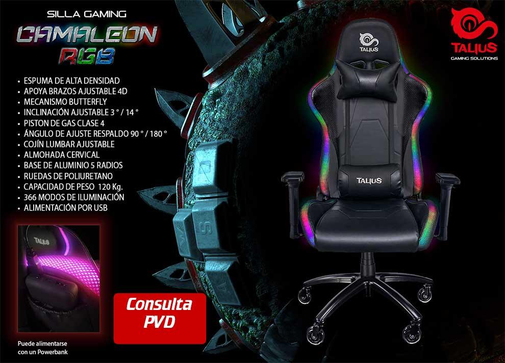 novedad silla gaming Camaleon