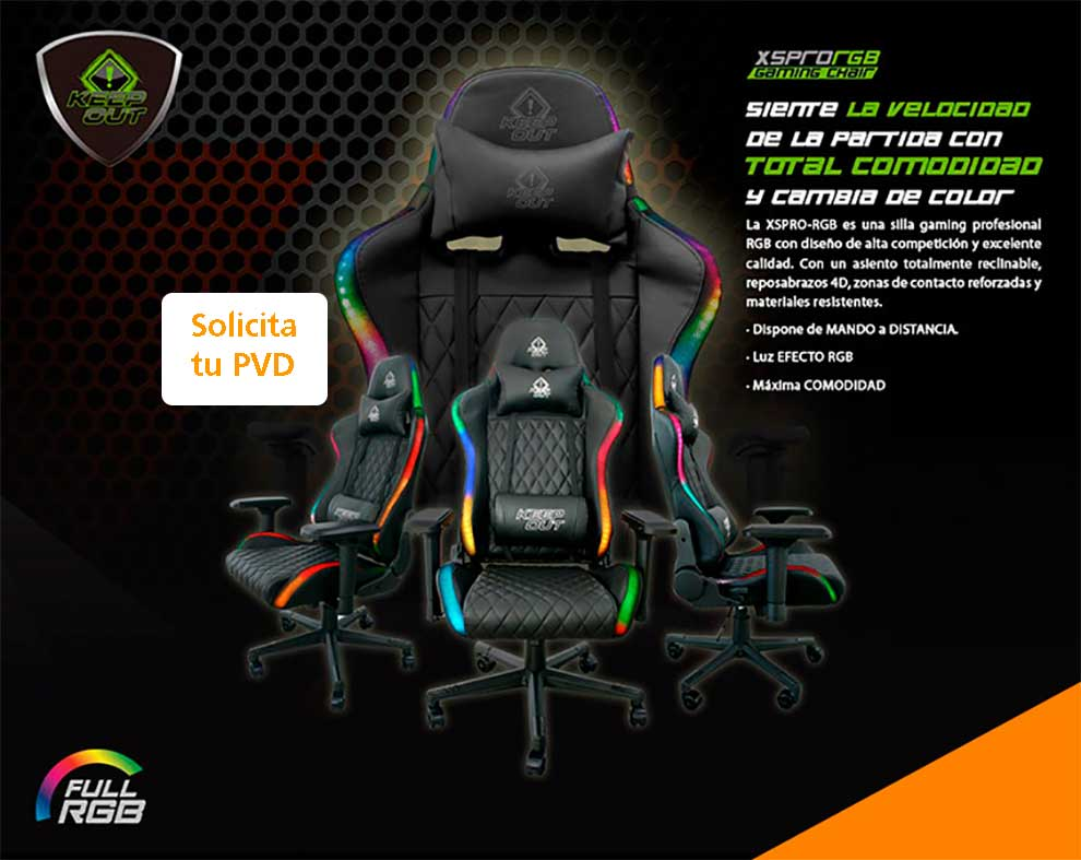 oferta silla gaming led
