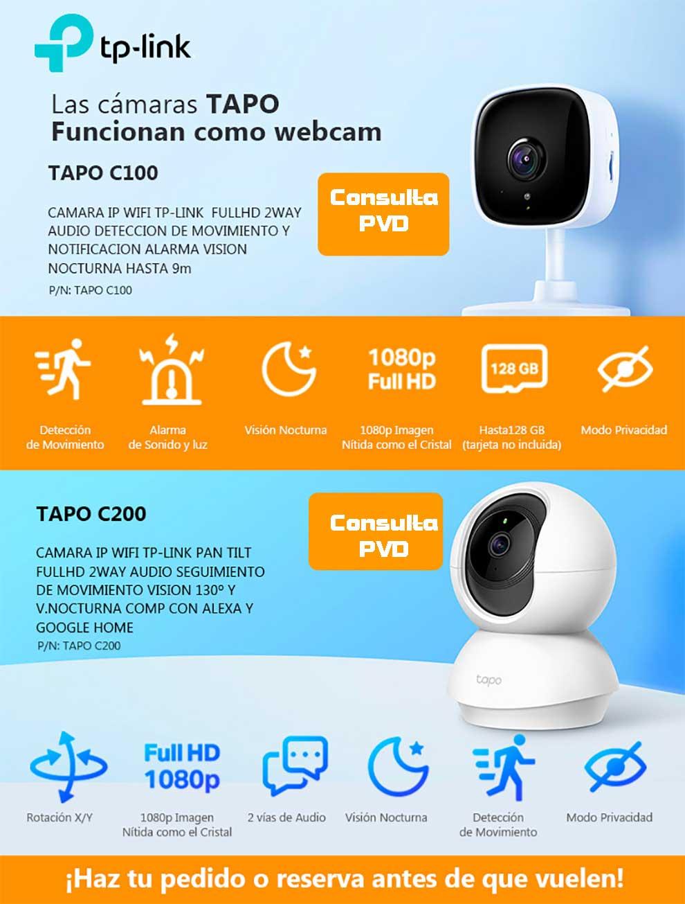 tp link TAPO tambien como webcam