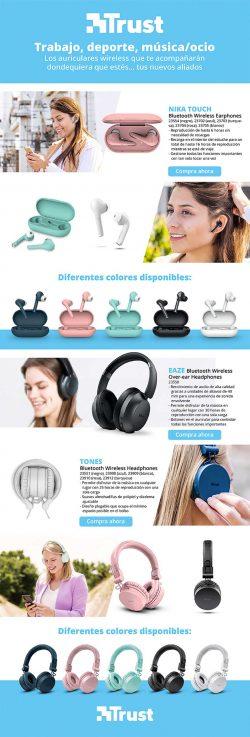 descuento auriculares bluetooth