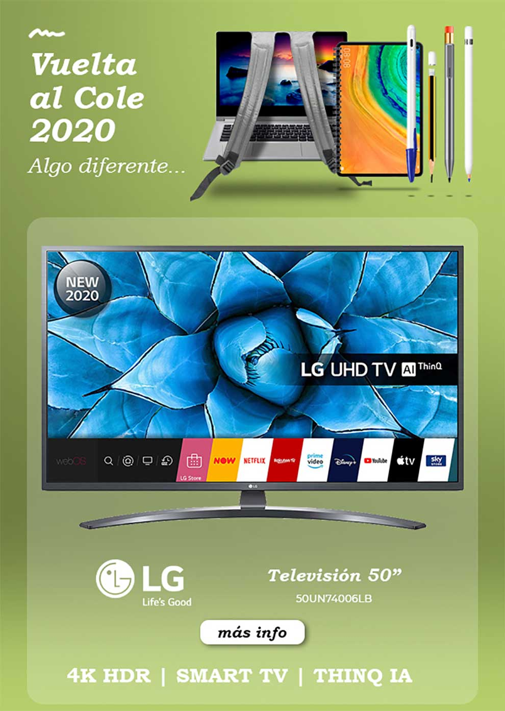 chollo smart tv LG