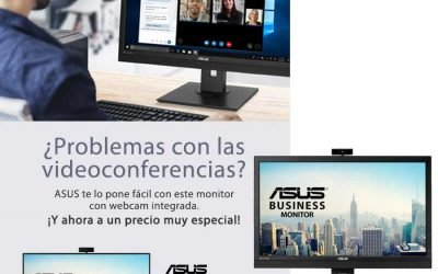 Monitor empresarial ASUS BE24EQK con webcam integrada