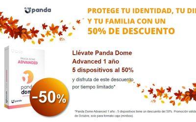 Llévate Panda Dome Advanced con un 50% de descuento