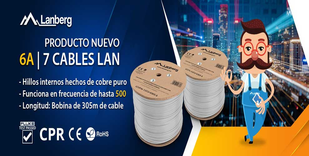 oferta cable cat 6 de lanberg mayoristas informatica