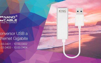 Conversores USB a Ethernet Gigabite de Nanocable