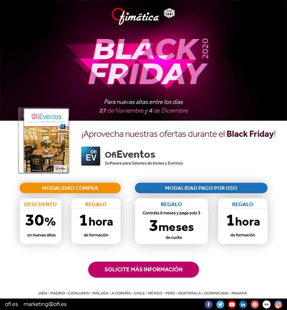 Black Friday Ofimática con OfiEventos