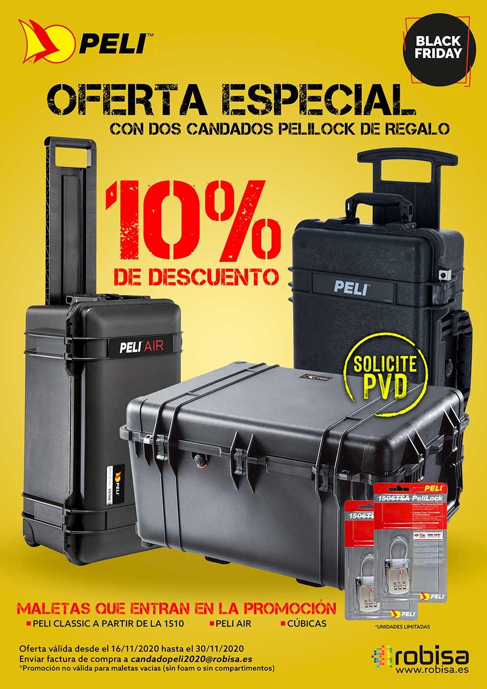 black friday maletas Peli para fotografos