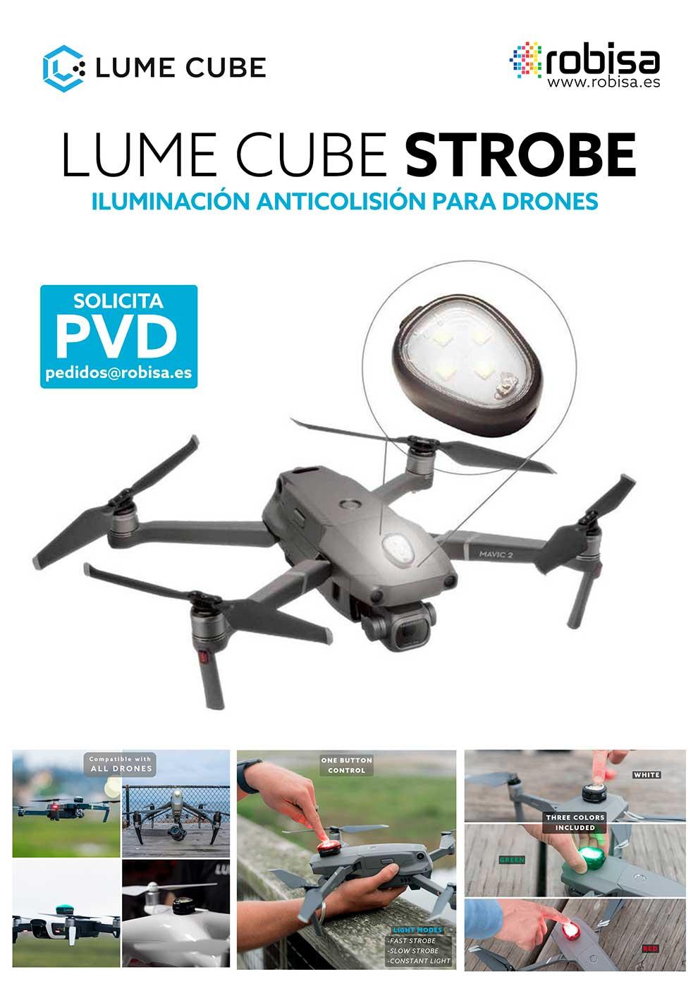 Lume Cube Strobe, iluminación anticolisión para drones
