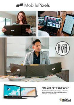 crea monitores portátiles y ligeros que aumentan la productividad
