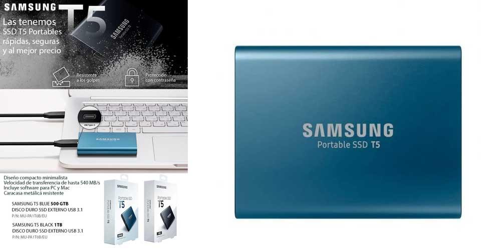 oferta SSD externo samsung