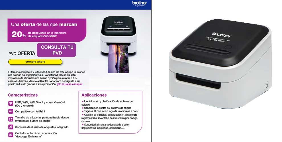 Oferta impresora brother VC-500W en Infowork