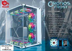 novedad caja gaming Talius Cronos Frost