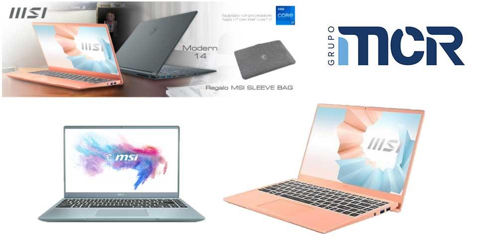 Mejor precio mayorista portatil MSI Modern 14