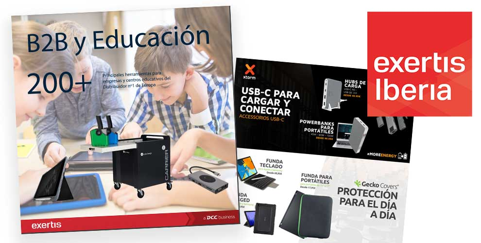 catalogo exertis B2B y educacion