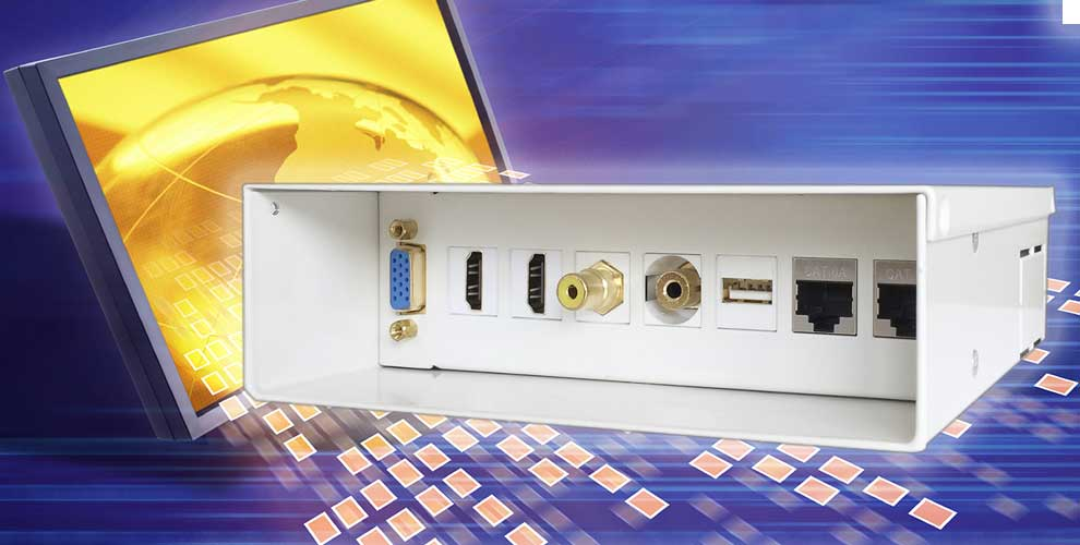 Caja de conexiones audiovisual aisens