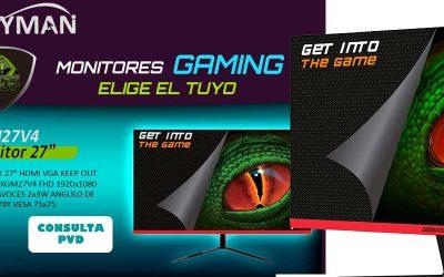Monitores gaming KeepOut en Desyman