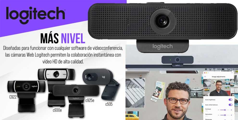 mejor precio logitech webcams