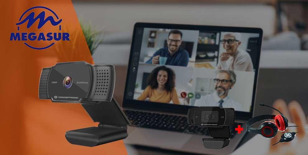 Pack webcam Conceptronic en Megasur