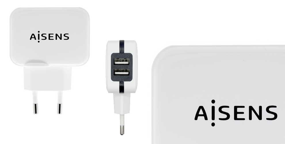 Cargador USB 17w 5v/3.4A con control AI de AISENS