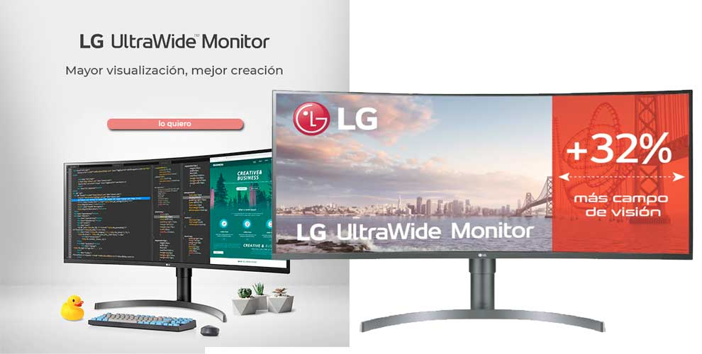 Hasta un 32% más campo de visión con LG