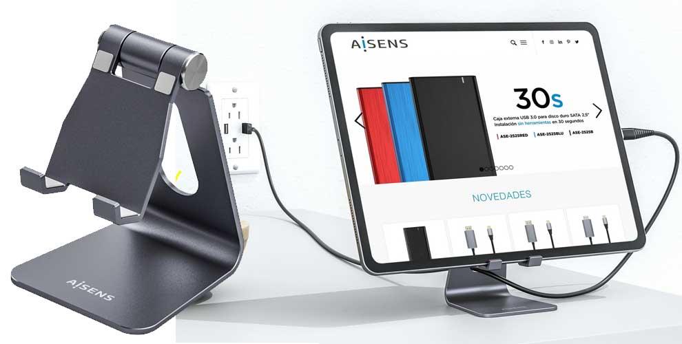 soporte premium para smartphone o tablet