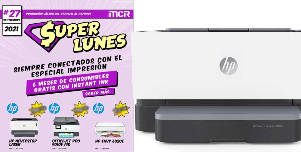 Súper Lunes MCR especial impresoras hp