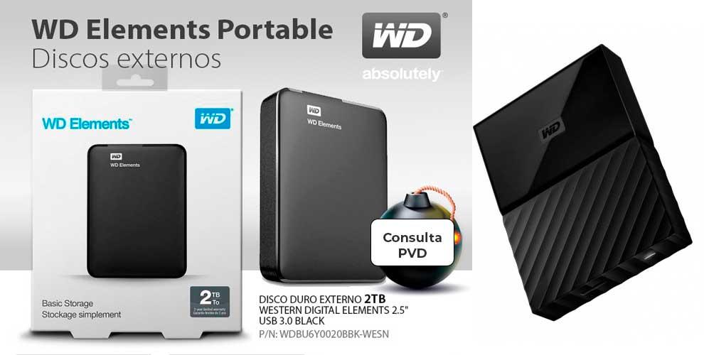 WD, discos portables únicos