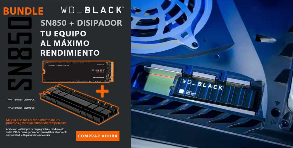 WD_Black SN850 + disipador, tu equipo al máximo rendimiento