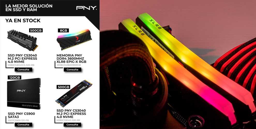 PNY la mejor solución en SSD y RAM