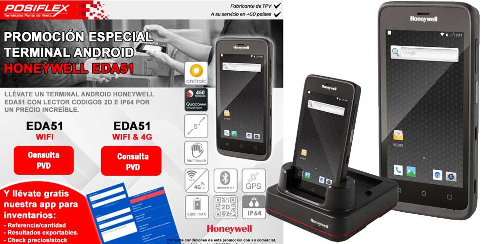 Honeywell EDA51, ahora con lector códigos 2D